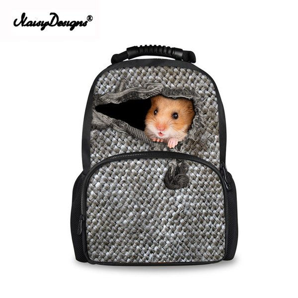 Casual 3D Printing Children School Bags Cute Mouse Schools Rope Cloth Student School Bags Kids Cartoon Bookbags