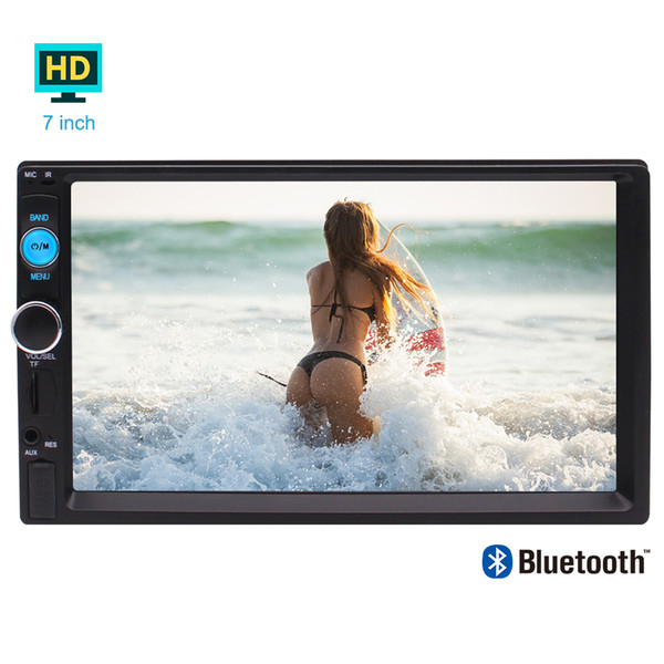 7''Capacitive Multi-touch Screen Double 2 Din Car MP5 Video Radio Player Car Deck Audio Headunit in Dash two Din Car Stereo Bluetooth/1080P