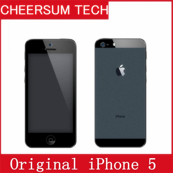 Free DHL Original unlocked APPLE iPhone 5 iOS 8 OS Dual core 1G RAM 16GB 32GB 64GB ROM 4.0 inch 8MP Camera WIFI refurbished cellphone