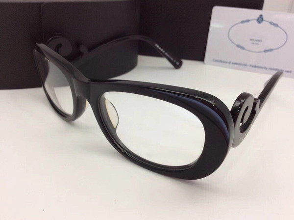 New fashion brand desinger optical eyeglasses SPR09P-A model black full frames protection glasses with original box