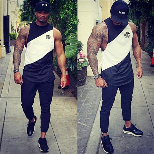 Bodybuilding Singlets Mens Body Muscle Guys Tank Tops Stringer Mens Vest Fitness Men 'S Workout Gyms Clothing Hip Hop Tank top