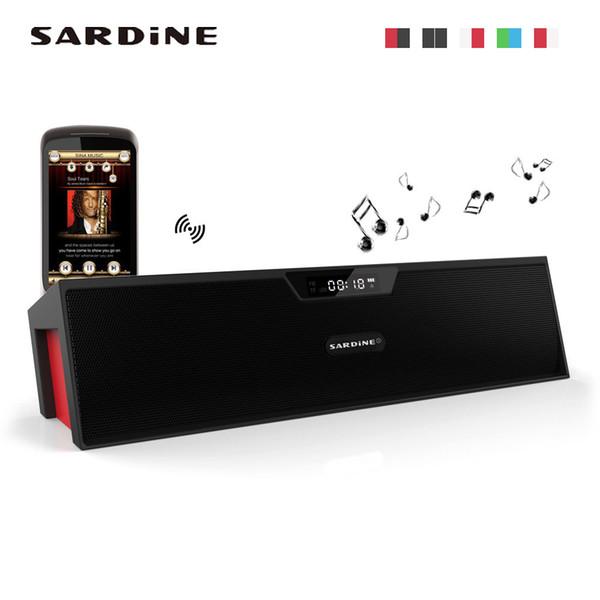 Sardine SDY019 Ultra Slim Wireless Bluetooth Lautsprecher Dual Lautsprecher Hallo-Fi Stereo Sound Unterstützung Micro SD-Karte oder TF-Karte