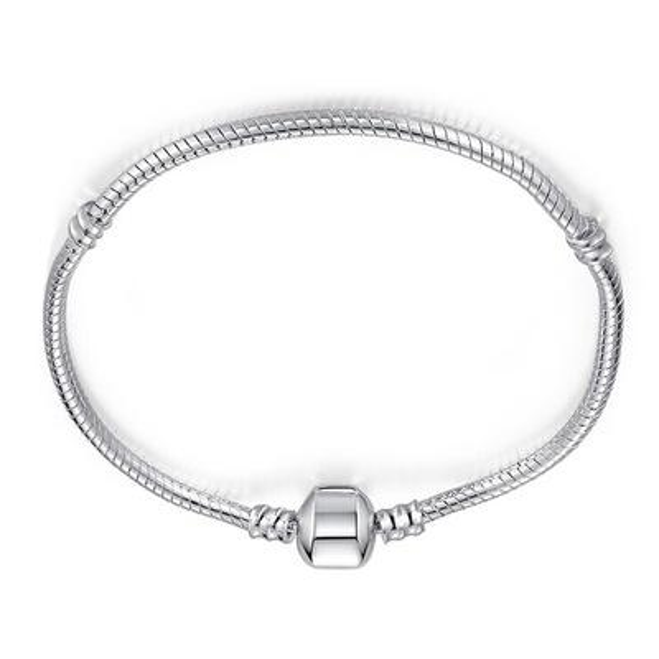 Hot Sale Gifts 3mm Silver 17-23cm Snake Chain Bijoux Bracelet Homme Femme For Women Men Charm Jewelry CHH028