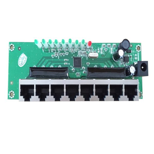 shenzhen network switches factory direct sell 8 port mini ethernet switch 8 rj45 switch hub mini size pcb board module