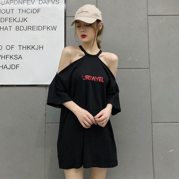 Mihoshop Ulzzang Korean Korea Women Fashion Clothing Summer Sexy Loose Letter Print Short Sleeve T shirt Tops