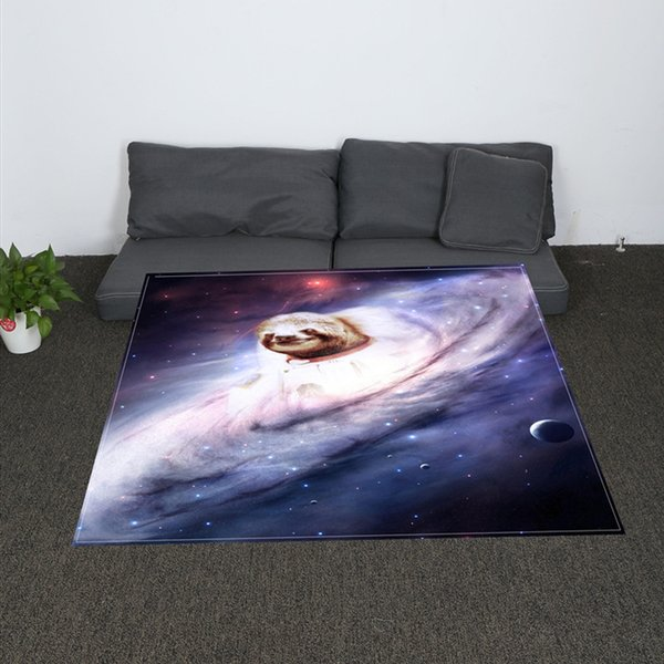 Digital Print Star Panda Panda Throw Blanket Galaxy Printed Sherpa Blanket for Couch Landscape Bedding Throw