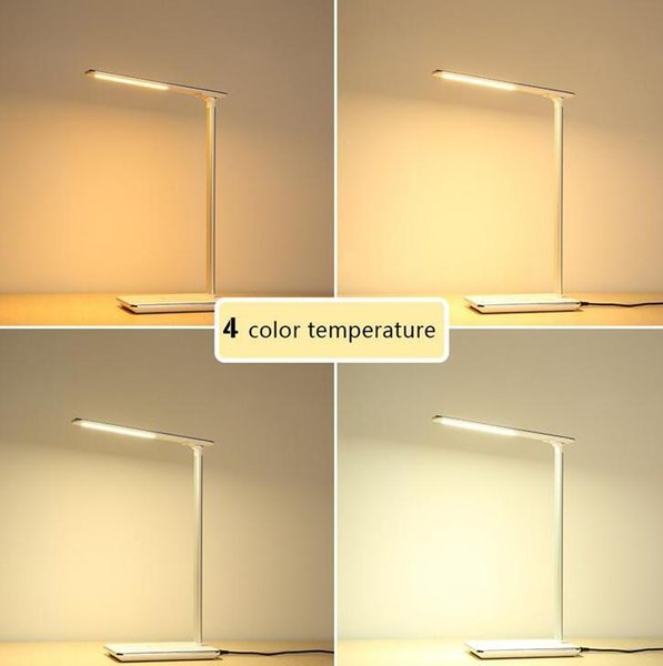 LED Desk Lamp Table lights Folding Eye-friendly 4Light Color Temperature Book Light with Wireless Desktop Charger Reading lights TDC003