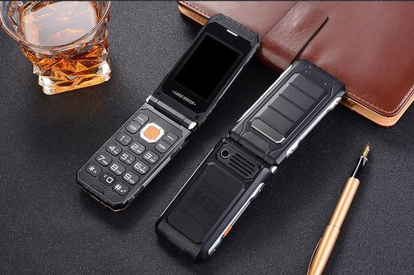 Mix order Military Land Rover three anti-flip mobile phones for the elderly, big characters loud standby, old male models business mobile