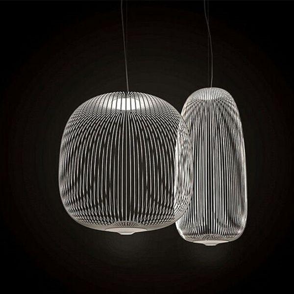 Foscarini radios 1/2 luces colgantes modernas de metal araña led lámpara de suspensión accesorio para comedor sala de estar decoración AL188