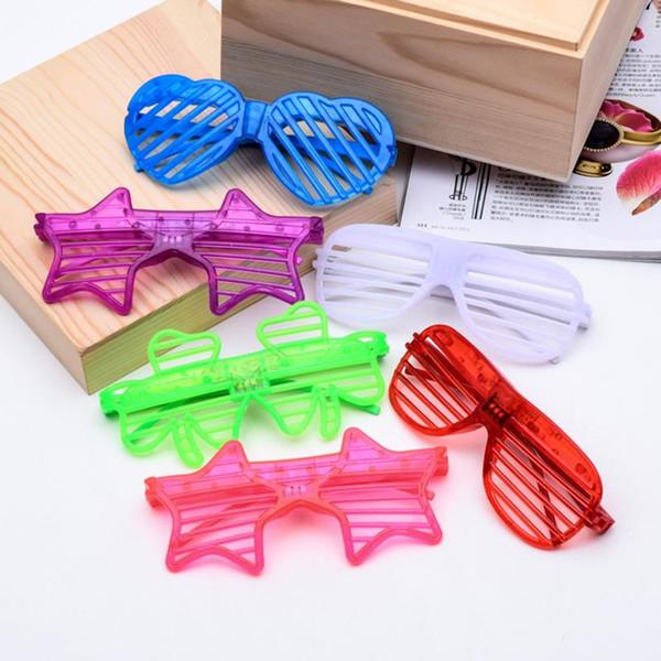LED aveugle masque lunettes Light Up clignotant cadeaux de mariage partie fournitures adulte enfant lueur Halloween de Noël jc-003