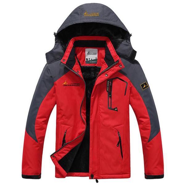 Winter Parka Men Windbreak Plus Velvet Thick Warm Windproof Fur Coats Male Military Hooded Anorak Jackets Men's Outwear Overcoat C18111201