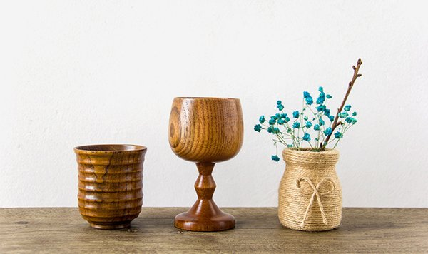 Botella de madera superior hecho a mano cubilete de vino puro jujube natural taza de agua taza de café taza de café accesorios de cocina