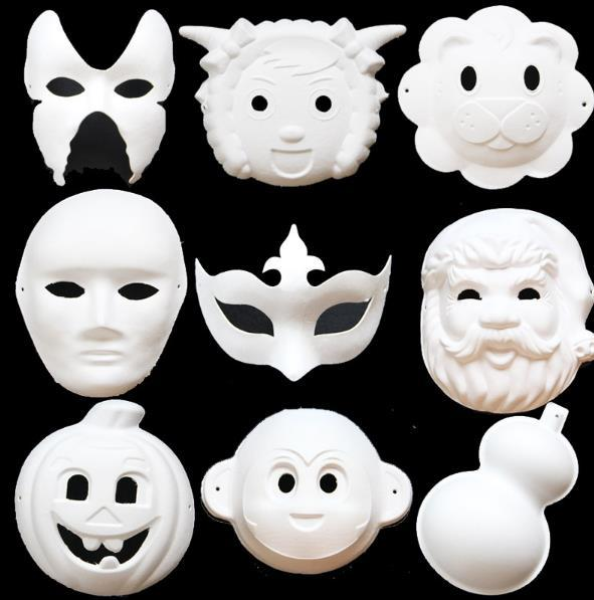 56dd32176db Blank White Masquerade mask Kids Adults Masquerade Mardi Gras Christmas  Halloween midnight costume DIY Masks Half Full Face Mask
