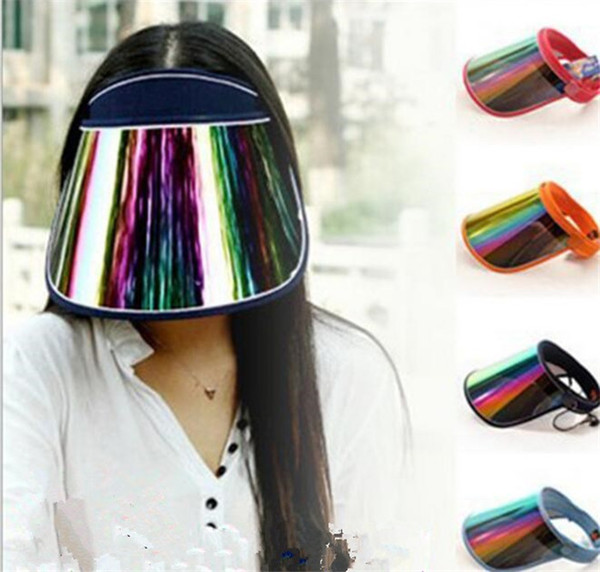 best selling Cap Wholesale Visors For Car Anti UV Light Cap PC Sun Hat Colorful Board To Ride Sun Visors J073