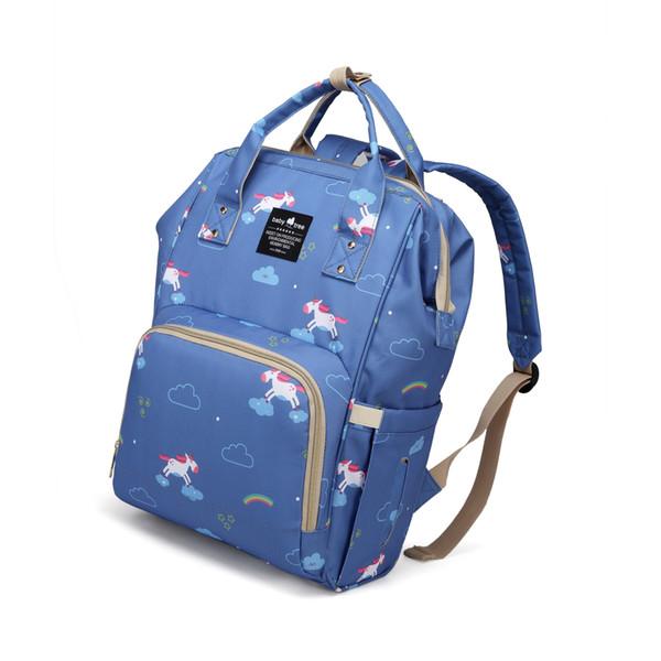 2018 new style multi futional waterproof patterns mummy backpack baby handbag baby bag factory supply