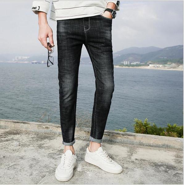 Großhandel Sommer Männer Normallack Jeans Männer Koreanische Version Der Schlanken Hosen Trend Männer 2018 Stretch Mode Jeans Von Pdsmzwb, $44.78 Auf