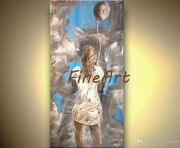 good quality large painting canvas girl oil painting canvas art palette knife heavy texture oil painting hand painted abstract discount best