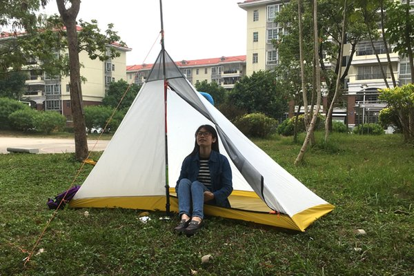 New brand 4 season Camping Inner Tent Ultralight 1-2 Person Outdoor 40D Silicon Coating Pyramid Large inner Tent