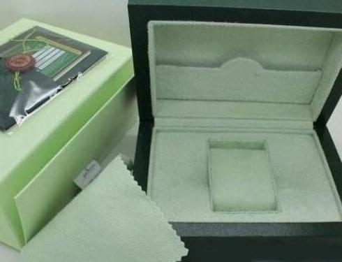 Freie Verschiffen-Spitzenluxusuhr-Marken-grüne ursprüngliche Kasten-Papiere Geschenk passt Kasten-lederne Beutel Karte 0.8KG für Uhrkasten auf