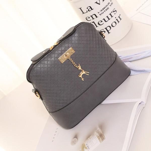Nuevo bolso de mujer de moda para mujer, bolsa de concha de venado, versión coreana del hombro, bolso de mensajero, bolso de marea salvaje