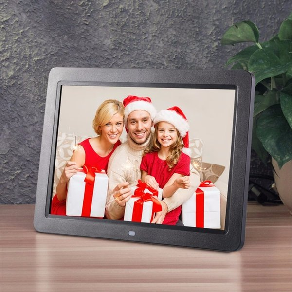 """12"""" Wide Screen HD LED Digital Photo Frame 1280 * 800 Electronic Picture Frame MP3 MP4 Player Clock Built in stereo speakers"""