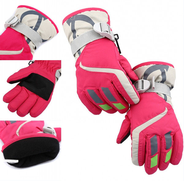 6 Colors Outdoor Children'S Ski Gloves Riding Gloves Winter Thickening Hiking Warm Gloves Waterproof Non-Slip Gear Christmas Gift H903R