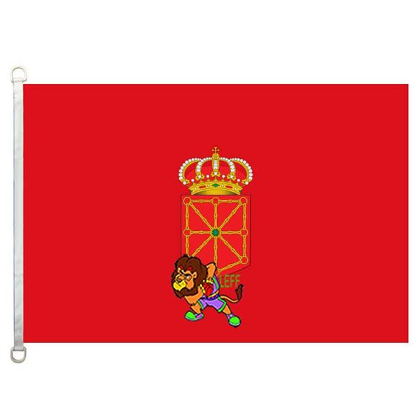 Bandera de Navarra флаги страны флаги, 90*150 см, 100% полиэстер, баннер, цифровая печать
