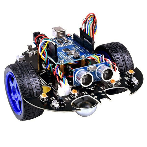 YahBoom Smart Bat Robot Intelligent Programming Bluetooth Control Car Kit  With For Arduino UNO R3 Board For Science Kids Educate Cool Remote Control