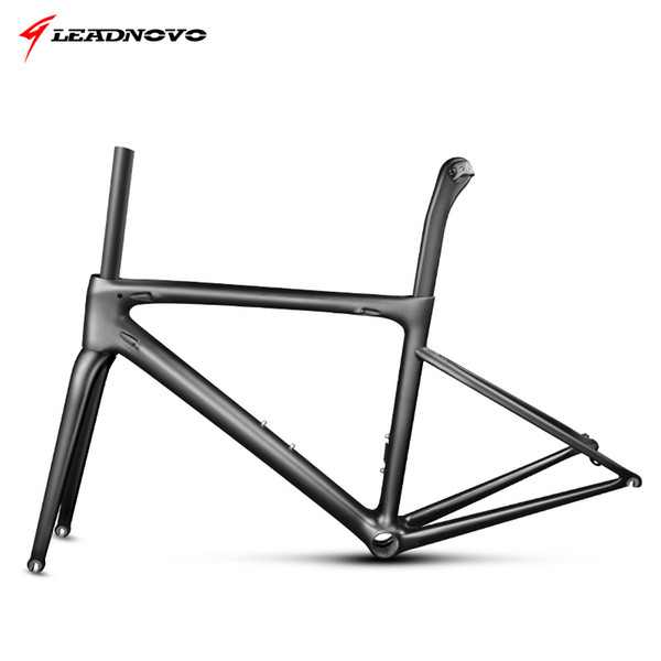 2018 newly carbon road frame lightweight bike frameset UD glossy matte bicycle frame BB30 BB68 whole bike parts
