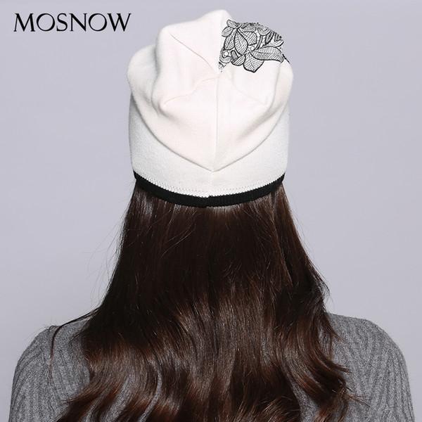 Compre Mosnow Mujeres Sombrero Mujer Otoño Invierno Lana Elegante ...