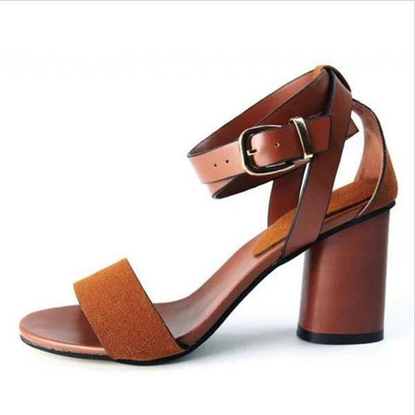 Yüksek kalite 2016 Yeni Yaz Kadın ayakkabı Kadın Ayak Bileği Kayışı Peep Toe yüksek topuklu güzel ofis elbise sandalet k546