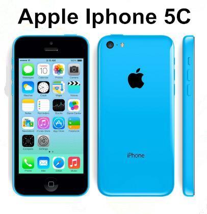 Téléphone portable d'origine Apple iPhone 5C double cœur iOS 1G / RAM 16G / 32GROM iphone5c 8MPCamera WIFI GPS Le téléphone original remis à neuf