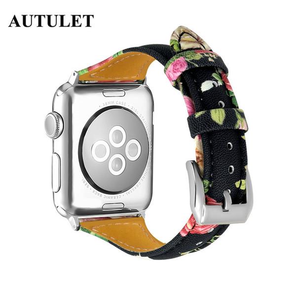 Pulseira de couro de substituição da correia do relógio de impressão Instalar rapidamente colorido pulseira fina para as mulheres EUA, RÚSSIA, ETC