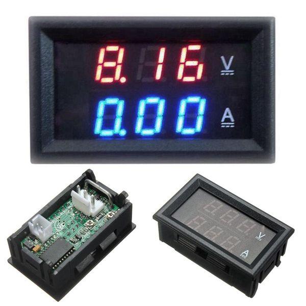 1pcs Top Quality DC 100V 10A Voltmeter Ammeter Blue + Red LED Amp Dual Digital Volt Meter Gauge Voltage Current Home Use Tool