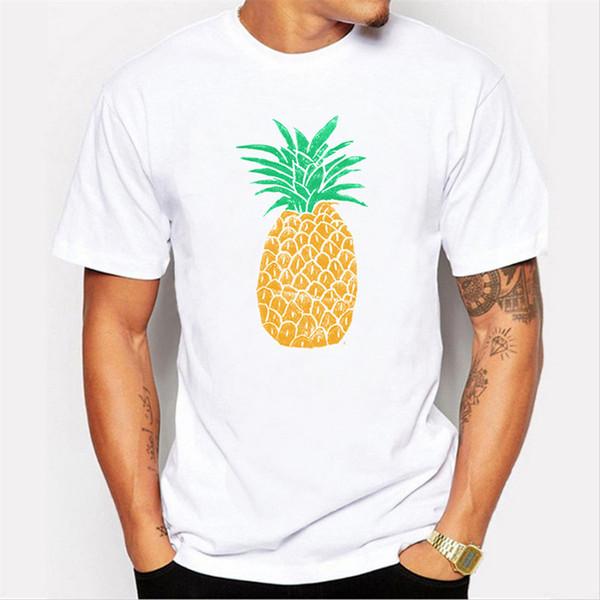 Новинка прохладный топы футболка печать Pineapp одежда Мужская дизайн О-образным вырезом с коротким рукавом футболки
