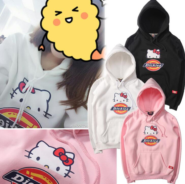 716600fb8 ripndip pigalle New products Dickies x Kitty Hello Kitty men's and women's  sweater sweater hooded cartoon
