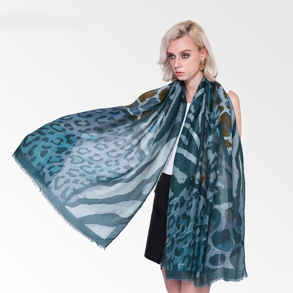 Leopard Print Winter Long Soft Women Cotton Linen Scarves Scarfs Big Size Foulard Femme Ladies Shawls Hijab Large Pashmina
