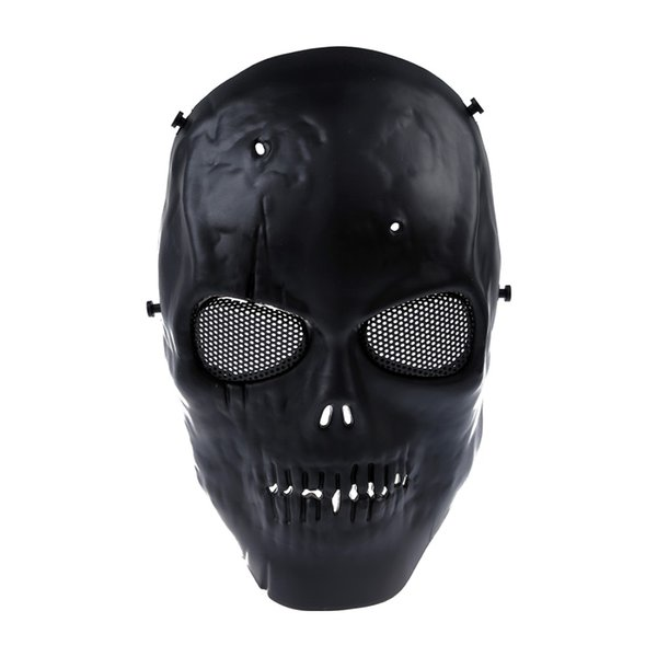 Airsoft Mask Skull Full Protective Mask Military - Negro