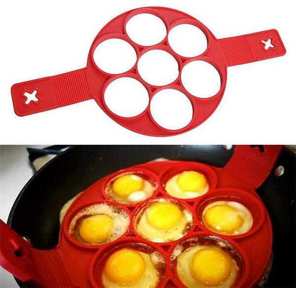 DHL 20pcs Flippin EGG RINGS Fast Easy Way to Make Perfect Pancakes Nonstick Pancake Maker Egg Ring Maker Silicone Kitchen Baking Moulds