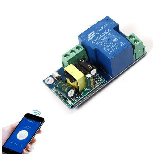 1шт высокой мощности Wi-Fi реле переключатель модуля толчковой пробежки режим AC 220 В телефон таймер пульт дистанционного управления 6.8x3.3x2.6 см PSA беспроводной смарт