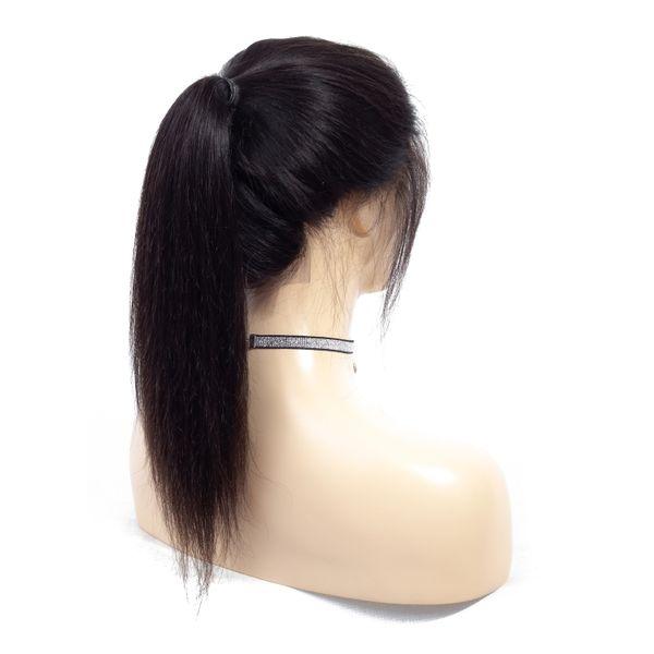 Fabrik Verkauf Gerade Brasilianisches Menschenhaarspitzefrontseitenperücken 8-20 Zoll Zupfte Gerade Menschliches Haar Gerade Schweizer Spitze Frontal