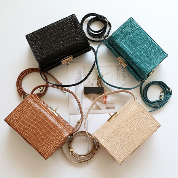 Crocodile pattern Genuine Leather Shoulder Bags For Women 2018 Hot Fashion Cross Body Bags Handbags Bag Wholesale