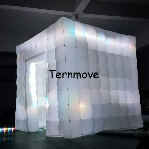 LED light photo booth,inflatable cube tent with led lights Mobile Square Show Display Cube Tent inflatable party