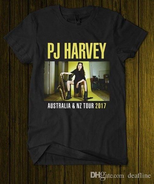 Neuester 2018 PJ Harvey Australien NZ Tour 2018 englischer Musiker Schwarzes T-Shirt S M L Xl 2XL