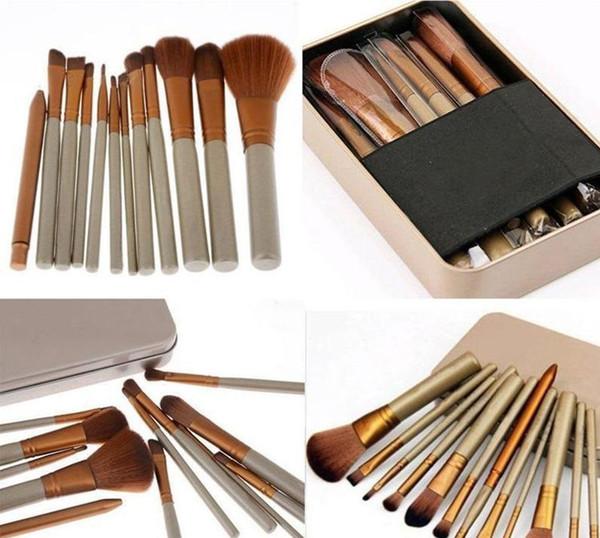 Professional 12 PCS Cosmetic Facial Make up Brush Tools Makeup Brushes Set Kit With Retail Box