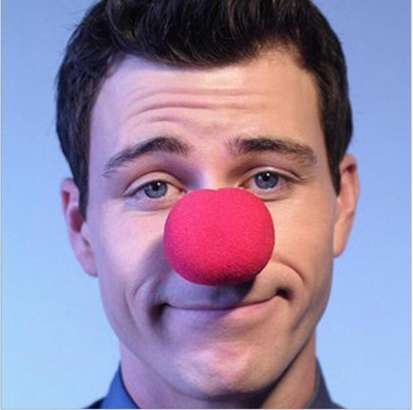 10 pcs Hot sale Usefull Adorable Red Ball Foam Circus Clown Nose Comic Party Halloween Costume Magic Dress Accessories