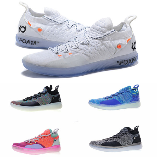 2018 New KD 11 EP White Orange Foam Pink Paranoid Oreo ICE Basketball Shoes Original Kevin Durant XI KD11 Mens Trainers Sneakers Size7-12