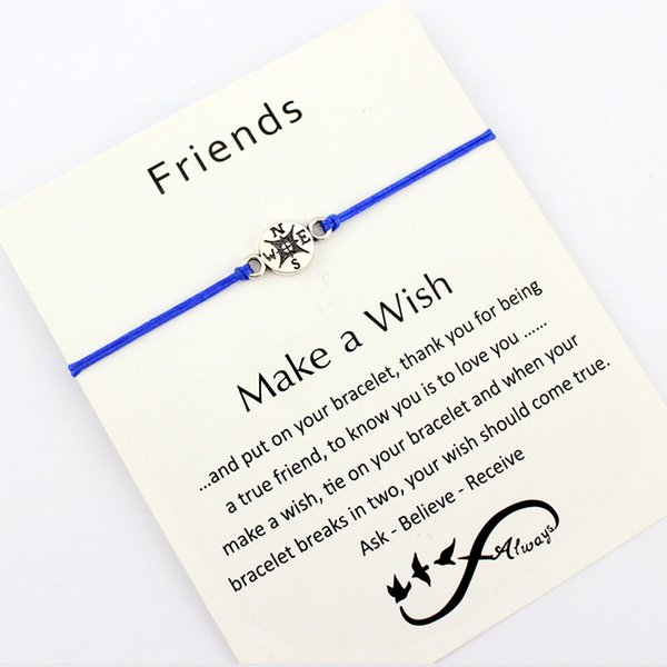 4e772547791cd Friends Dream Grandma Granddaughters Aunt Niece Mother Mom Daughters Gift  Make A Wish Silver Compass Bracelets For Women Charm Bracelets For Kids ...