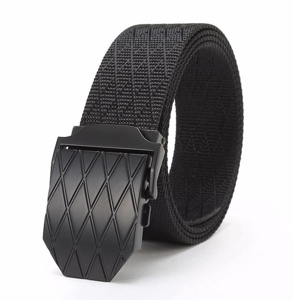new nylon material mens belt outdoor tactical male belts frosted metal buckle belt for jeans belts for women, Black;brown