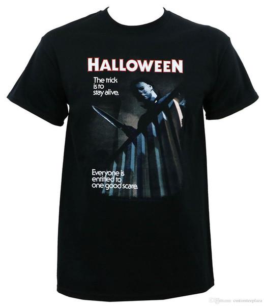 Autêntico Filme de Halloween Um Bom Susto Michael Myers T-Shirt S M L Xl 2Xl Nova Camiseta Para Homens Moda de Manga Curta Crewneck